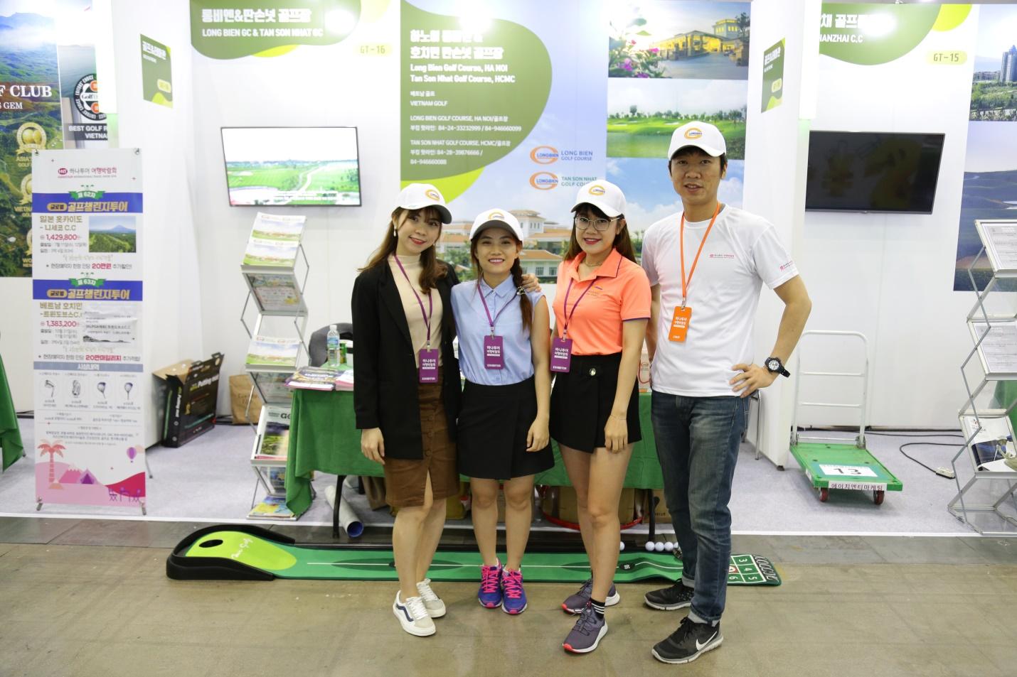 Sân Golf Long Biên và Sân Golf Tân Sơn Nhất tham gia Hội chợ du lịch quốc tế Hanatour 2018 tại Hàn Quốc
