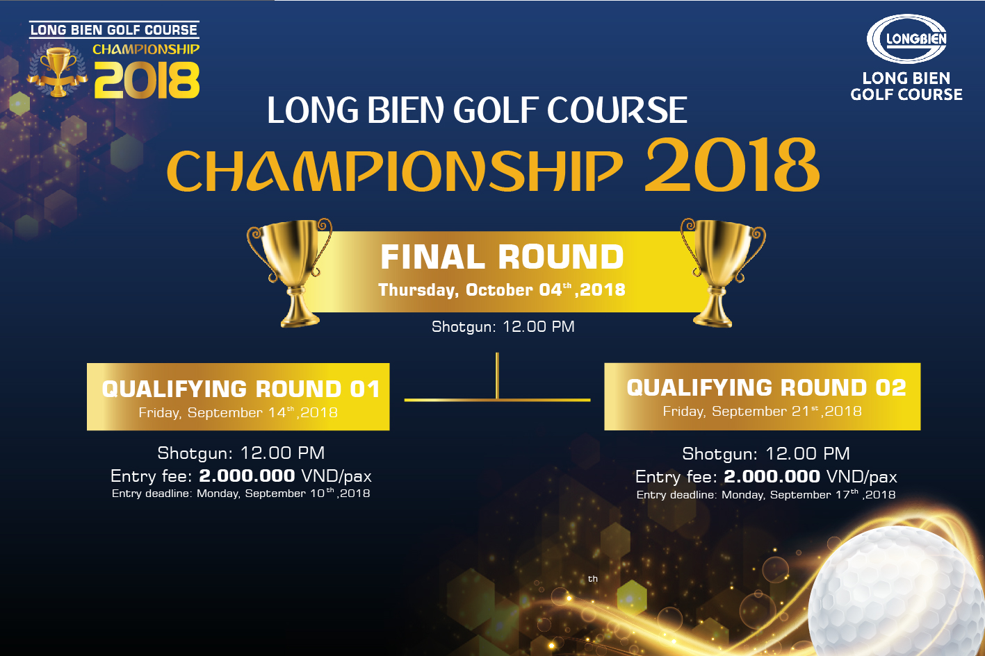 LONG BIEN GOLF COURSE CHAMPIONSHIP 2018